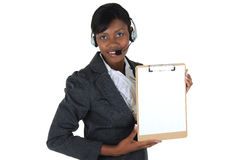 Attractive Business Woman with Headset 04 Stock Image