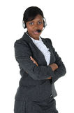 Attractive Business Woman with Headset 05 Stock Photography