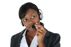 Attractive Business Woman with Headset 08 Royalty Free Stock Photography