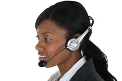 Attractive Business Woman with Headset 10 Stock Image