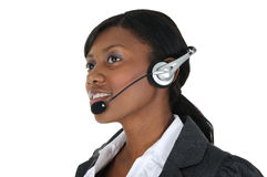 Attractive Business Woman with Headset 11 Stock Image