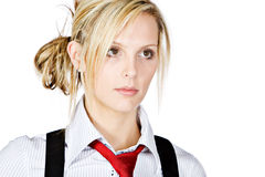 Attractive Business Woman Looking Off Camera Royalty Free Stock Images