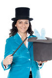 Attractive business woman with a magic wand Stock Photos