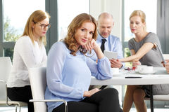 Attractive business woman at meeting Stock Photo