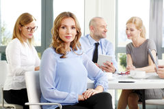 Attractive business woman at meeting Stock Image