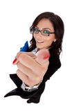 Attractive business woman pointing at you Royalty Free Stock Photography