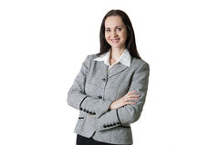 Attractive business woman smiling portrait in office Royalty Free Stock Photography