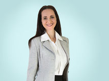 Attractive business woman smiling portrait Stock Image