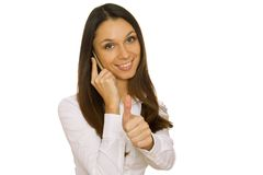 Attractive business woman talking on the phone Royalty Free Stock Image