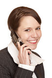 Attractive business woman talks on the telephone Royalty Free Stock Image