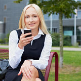 Attractive business woman using Stock Photography