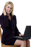 Attractive business woman working Stock Image