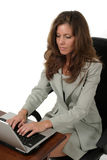 Attractive Business Woman Working On Laptop 1 Stock Image