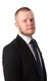 Attractive businessman in blue tie Stock Photo