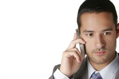 Attractive Businessman on Cellular Stock Image