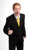 Attractive businessman in dark suit Stock Photo