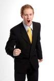 Attractive businessman in dark suit Stock Photo