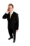 Attractive businessman in dark suit Stock Photography
