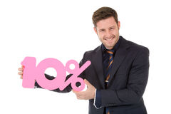 Attractive businessman discount Royalty Free Stock Image