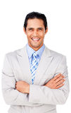 Attractive businessman with folded arms Royalty Free Stock Photo