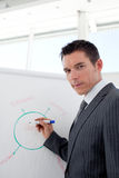 Attractive businessman giving a conference Royalty Free Stock Images