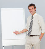 Attractive businessman giving a presentation Royalty Free Stock Photography