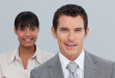 Attractive businessman with his colleague Royalty Free Stock Image