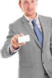 Attractive businessman in his 20s in grey Stock Photo