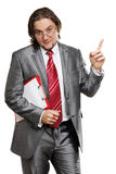 Attractive businessman isolated Royalty Free Stock Images