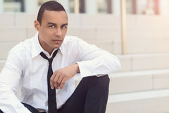Attractive businessman with a loosened tie Stock Photography