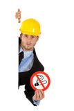 Attractive businessman, no smoking sig. Royalty Free Stock Images