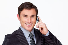 Attractive businessman on phone Stock Photography