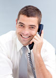 Attractive businessman on phone Royalty Free Stock Photos