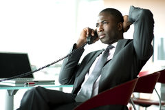 Attractive businessman on the phone Royalty Free Stock Images