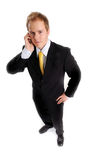 Attractive businessman with phone Royalty Free Stock Image