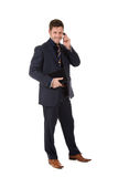 Attractive businessman phone talking Stock Photography