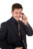 Attractive businessman phone talking Royalty Free Stock Photography