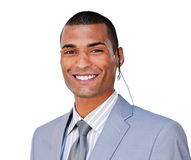 Attractive businessman smiling at the camera Royalty Free Stock Photo