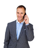 Attractive businessman using a mobile phone Royalty Free Stock Photography