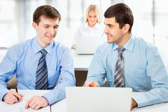 Attractive businessmen Royalty Free Stock Photo