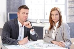 Attractive businesspeople working together Royalty Free Stock Image