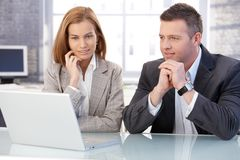 Attractive businesspeople working together Royalty Free Stock Images