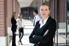 Attractive businesswoman Stock Photos