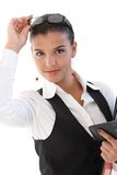 Attractive businesswoman Stock Image
