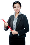 An attractive businesswoman Stock Image