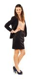 Attractive Businesswoman Against White Background Stock Images
