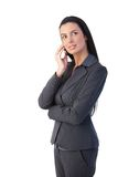 Attractive businesswoman on call Royalty Free Stock Images