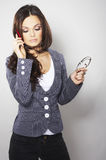 Attractive businesswoman with cell phone Royalty Free Stock Image