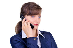 Attractive businesswoman with cellphone Royalty Free Stock Photography