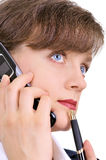 Attractive businesswoman with cellphone Royalty Free Stock Image